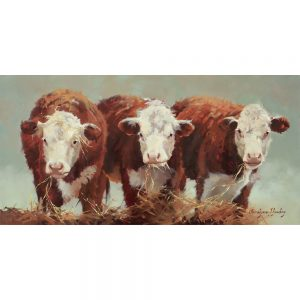 SG1551 three of a kind cows farm hay animal cattle