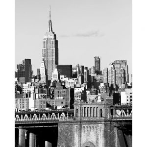 SG1563 nyc skyline II city scape newyork black and white sky scrapper