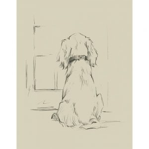 SG1578 waiting for master I dog sketch drawing study lineart