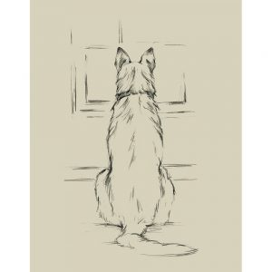 SG1579 waiting for master II dog sketch drawing study lineart