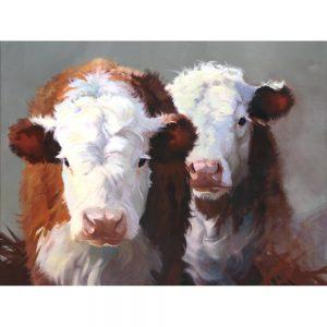 SG1608 buddies cows farm hay animal animals cattle