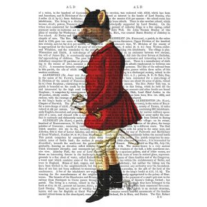 SG1619 fox hunt hunting game red writing book text typography illustration