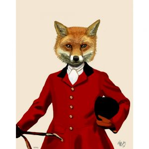 SG1627 hunt fox hunting game red illustration