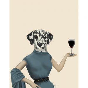 SG1630 dalmatian wine snob dog quirky whimsical