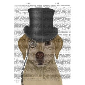 SG1637 yellow labrador formal hound and hat