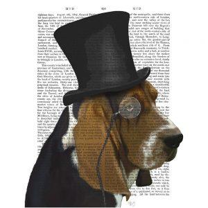 SG1639 basset hound formal hound and hat