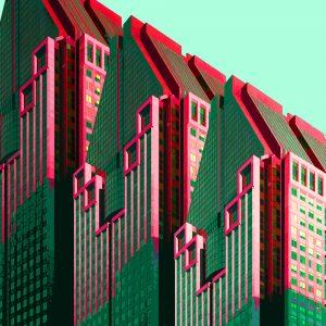 TM1152 modern architecture building pink