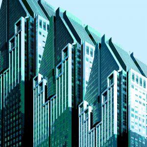TM1154 modern architecture building greens