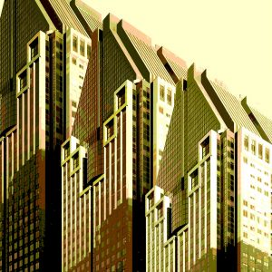 TM1155 modern architecture building yellows
