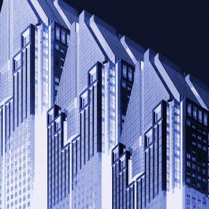 TM1156 modern architecture building invert