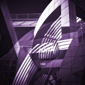 TM1159 modern architecture building purple