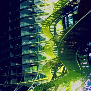 TM1168 modern architecture curves green