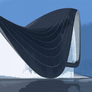 TM1170 modern architecture roof invert