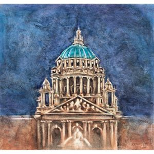 SG048 belfast city hall ireland northern building architecture night drawing