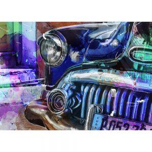 SG1837 vw volkswagen beetle bug car cars vibrant sketch illustration abstract watercolour painting colour splash