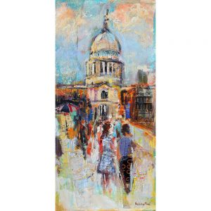 SG1901 london cityscapes buildings catherdral colourful people scene street summer tourists vibrant