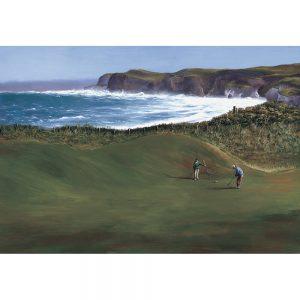 SG191 golf course ocean sea coast coastal mountains cliff figures