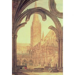 SG1910 landscape church cathedral window arch buildings spire illustration