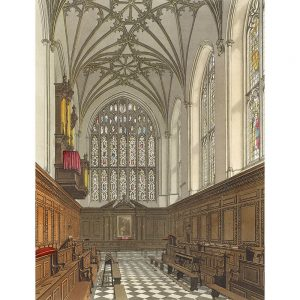 SG1922 ackermann architecture education pews print stained glass windows chapel church cathedral watercolour