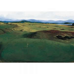 SG198 golf course trees landscapes figures lake mountains flag