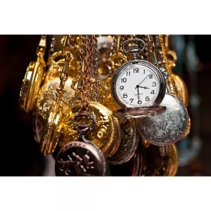 SG1991 gold silver watches chains time