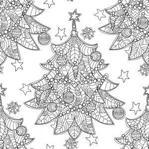SG2083 merry christmas zentangle tree doodle decorations