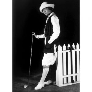SG2126 vintage photo retro woman golfing outfit golf