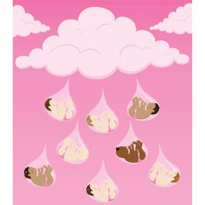 SG2274 baby shower baby girls airdrops