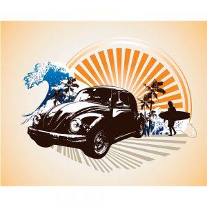 SG2437 car beetle vw surf beach