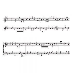 SG2445 music sheet staff notes
