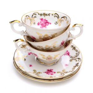 SG2505 antique tea cups saucers