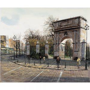SG291 dublin ireland buildings architechter city park gates