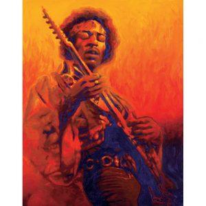 SG551 jimi hendrix gutair music orange figure man male