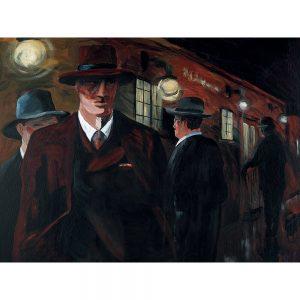 SG608 portrait gentleman figures vintage 1920 men pub bar socal suit hat