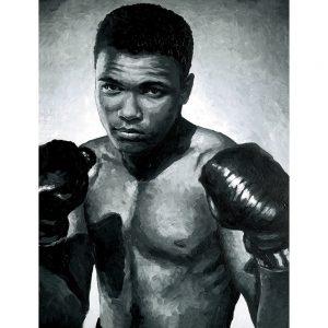 SG637 muhammad ali boxer sport boxing portrait