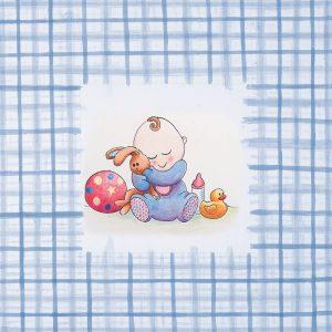 SG639 watercolour illustration baby babies boy blue