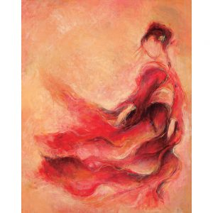 SG720 abstract female women figures red dresses