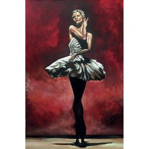 SG727 ballet ballerina dancer red woman figure portrait