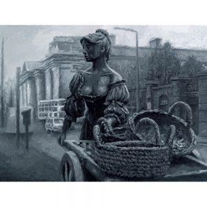 SG730 molly malone statue dublin ireland city woman female figure