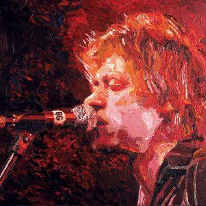 SG743 bob geldof singer musican irish ireland abstract portrait