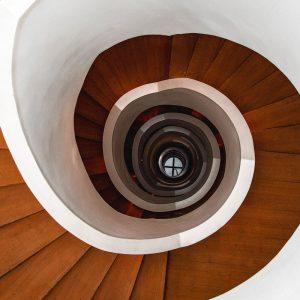 TM1251 architecture spral staircase orange