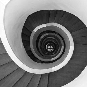 TM1252 architecture spiral staircase mono