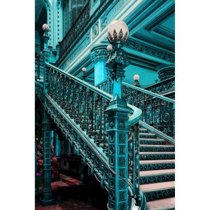 TM1257 architecture classic stairs turquoise