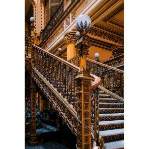 TM1258 architecture classic stairs orange
