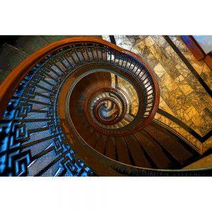 TM1259 architecture spiral staircase orange