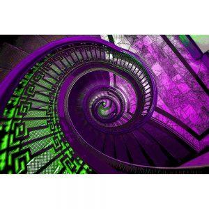 TM1260 architecture spiral staircase purple
