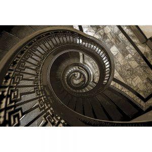 TM1262 architecture spiral staircase brown