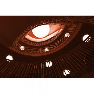 TM1265 architecture stairs orange