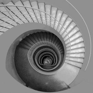 TM1268 architecture spiral staircase mono