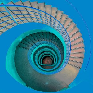TM1269 architecture spiral staircase blues